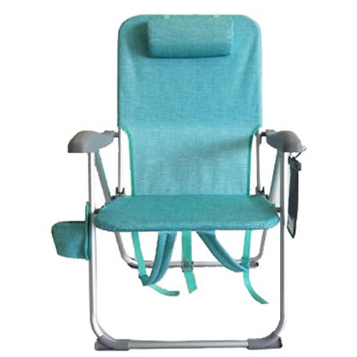 Easy-Out Teal Beach Patio Folding Chair with 4 Positions