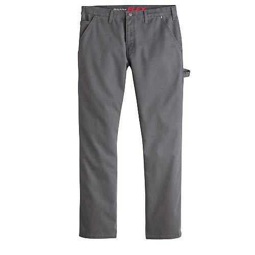 Men's FLEX Regular Fit Straight Leg Tough Max Duck Carpenter Pants Stonewash Slate 34X32