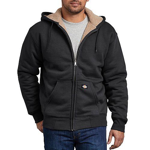 Dickies Men's Sherpa Lined Fleece Hoodie Black M