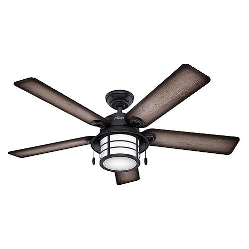 Key Biscayne 54-Inch LED Indoor/Outdoor Weathered Zinc Ceiling Fan