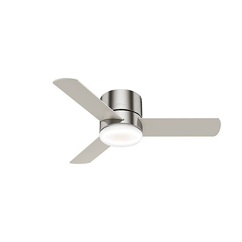 Minimus 44-Inch LED Indoor Brushed Nickel Low Profile Ceiling Fan