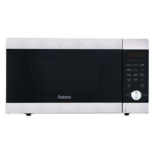 Un four à micro-ondes avec capteur de cuisson, Galanz ExpressWave 1,4 pi³, acier inoxydable