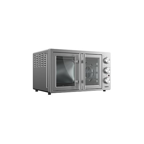 Galanz 1.5 cu.ft. 6-Slice French Door Toaster Oven with Air Fry, Stainless Steel
