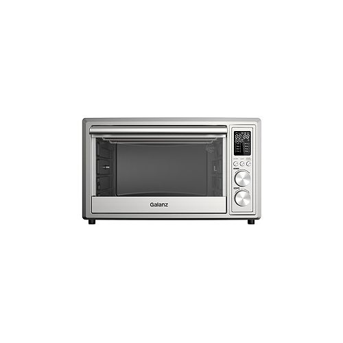 Galanz 1.1 cu.ft. 6-Slice Digital Toaster Oven with Air Fry, Stainless Steel