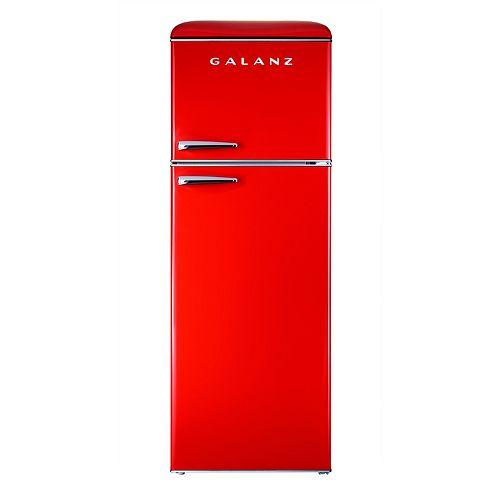 Galanz 12 cu.ft. Retro Top Freezer Refrigerator, Hot Rod Red