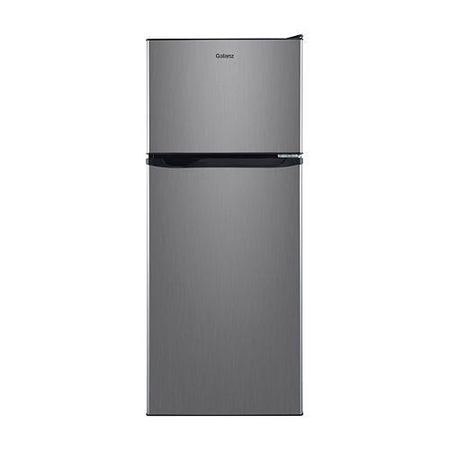 Galanz 10 cu.ft. Top Freezer Refrigerator, Stainless Steel Look