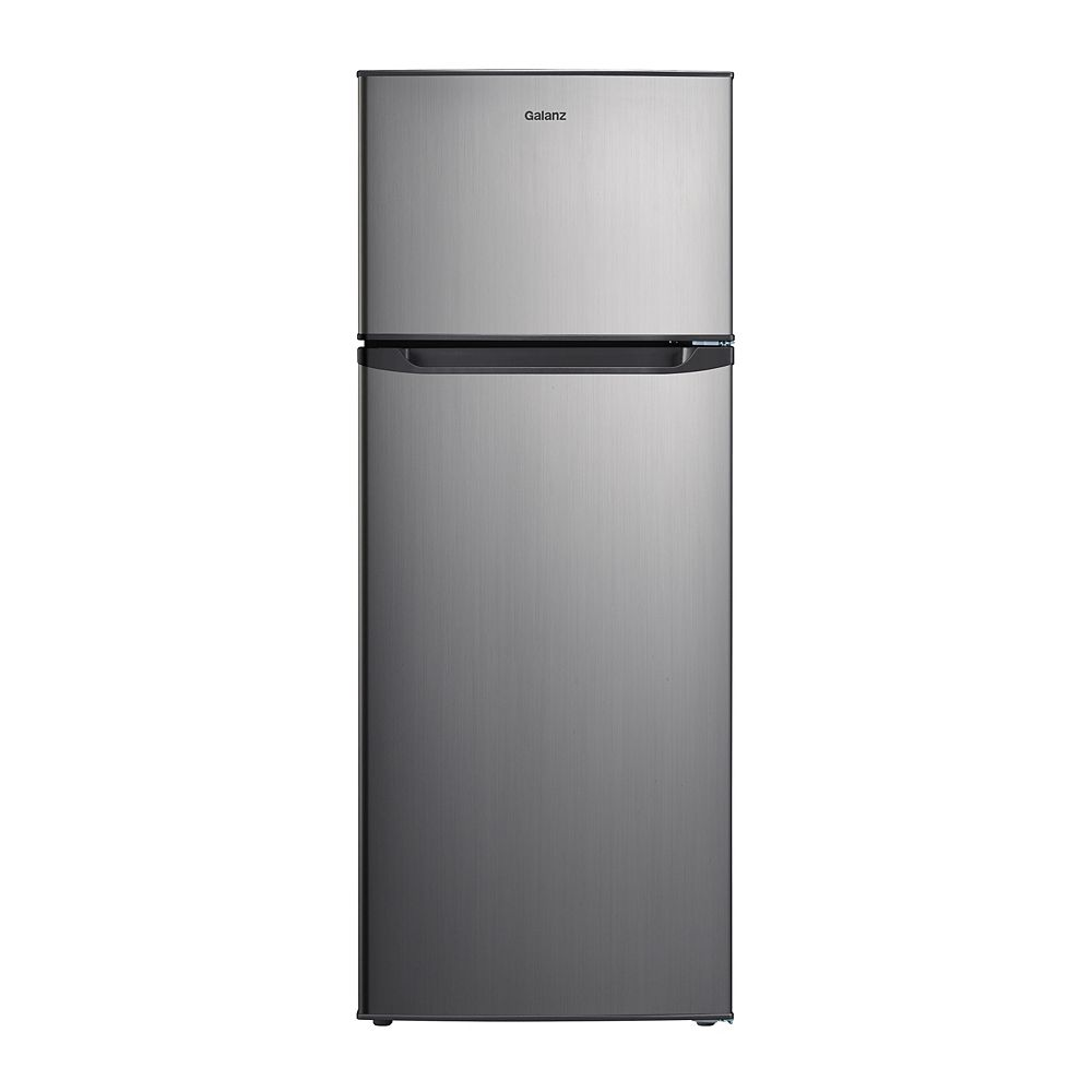 Galanz Galanz 7.6 cu.ft. Top Freezer Refrigerator, Stainless Steel Look