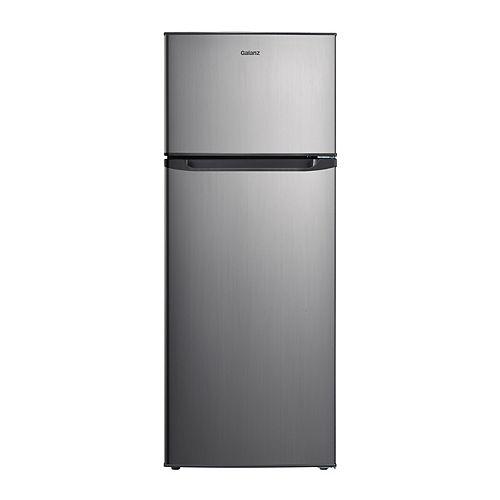 Galanz 7.6 cu.ft. Top Freezer Refrigerator, Stainless Steel Look