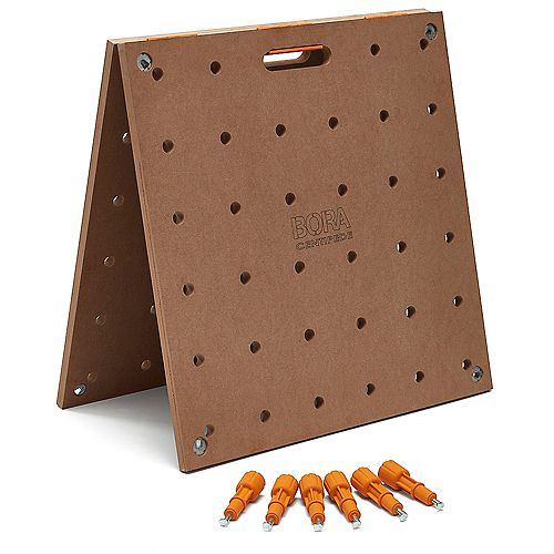 Centipede 24 in. x 48 in. Workbench Top for Sawhorse with 3/4 in. Dog Holes