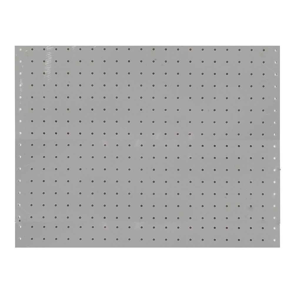Triton (2) 22 In. W x 18 In. H x 1/8 In. D White Polypropylene Pegboards with 3/16 In. Hole Size