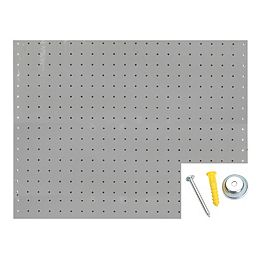 (2) 22 In. W x 18 In. H x 1/8 In. D White Polypropylene Pegboards and Mounting Hardware