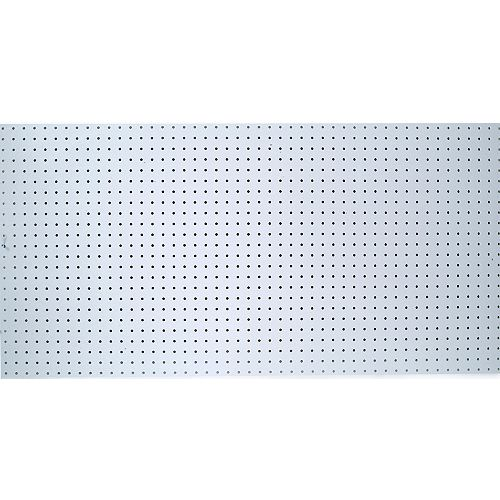 48 In. W x 96 In. H x 1/4 In. D White Polypropylene Pegboard with 1 In. O.C. Hole Spacing