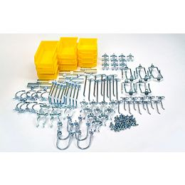 95 Pc Hook & Bin Assortment for DuraBoard or 1/8 In. and 1/4 In. Pegboard