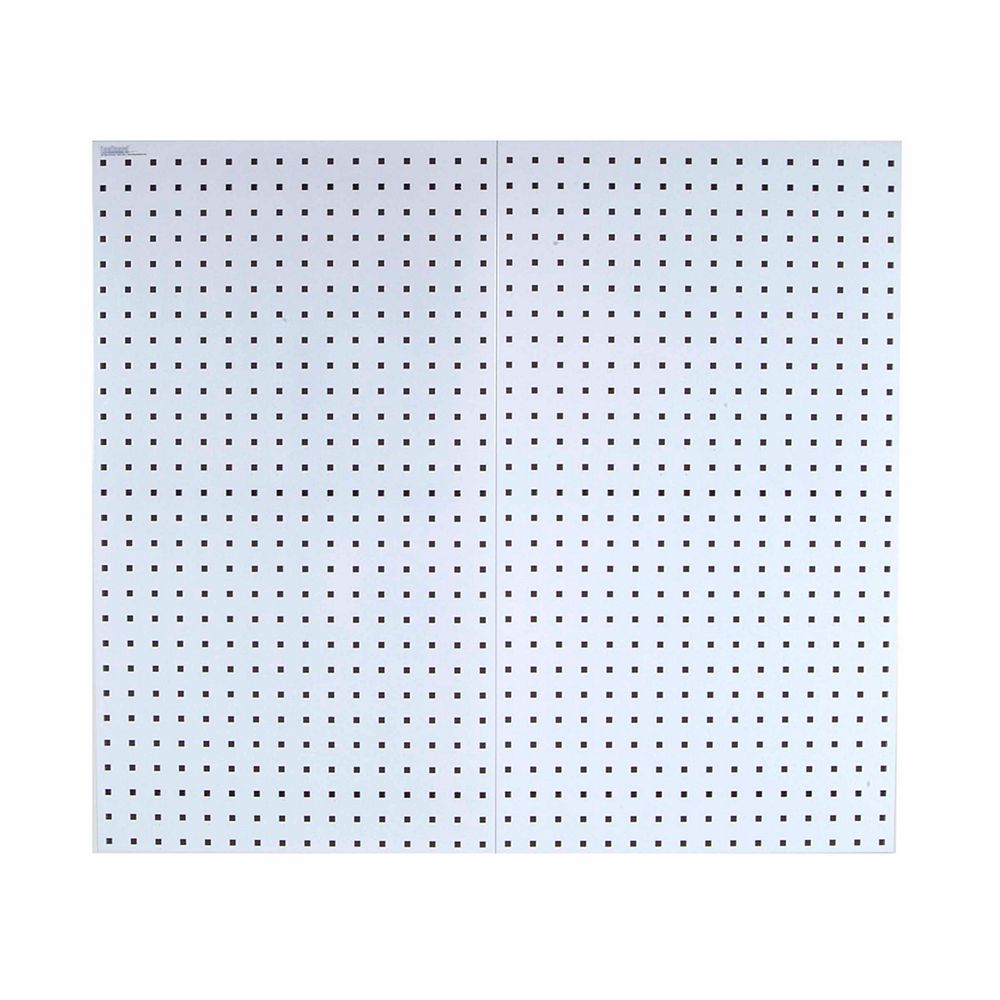 Triton (2) 18 In. W x 36 In. H x 9/16 In. D White  Steel Square Hole Pegboards