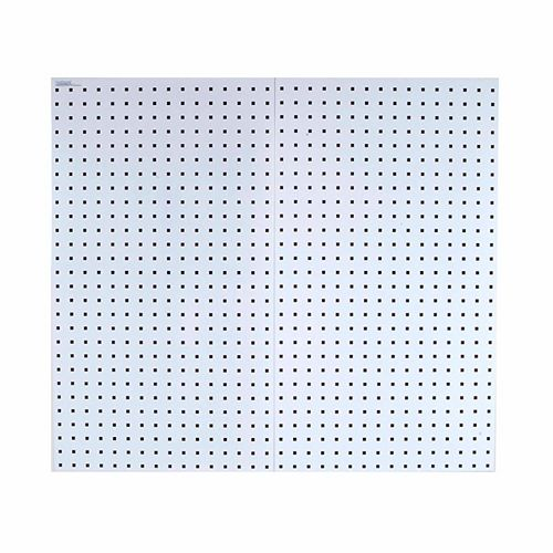 (2) 18 In. W x 36 In. H x 9/16 In. D White  Steel Square Hole Pegboards