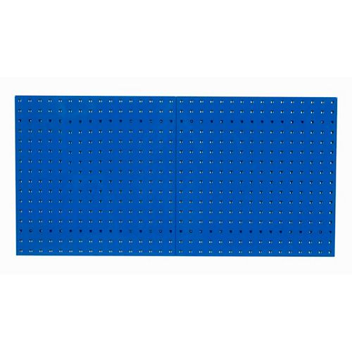(2) 24 In. W x 24 In. H x 9/16 In. D Blue  Steel Square Hole Pegboards