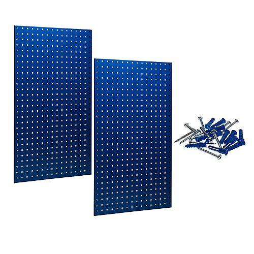 (2) 24 In. W x 42-1/2 In. H x 9/16 In. D Blue Epoxy, 18 Gauge Steel Square Hole Pegboards