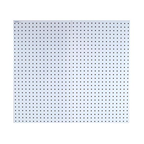 (2) 24 In. W x 42-1/2 In. H x 9/16 In. D White Steel Square Hole Pegboards