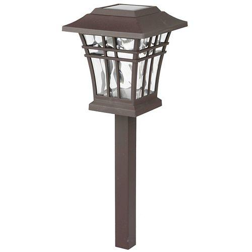 Lampadaire solaire à LED 8 Lumen Bronze
