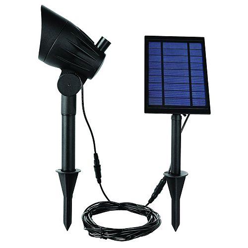 Spot Solaire à LED 100 Lumen Noir