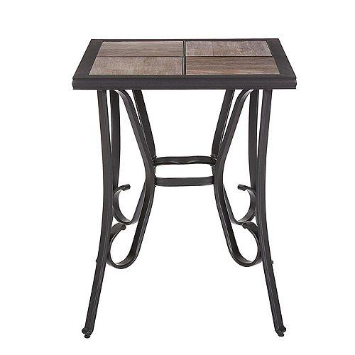 Table bistro Crestridge avec plateau en carreaux