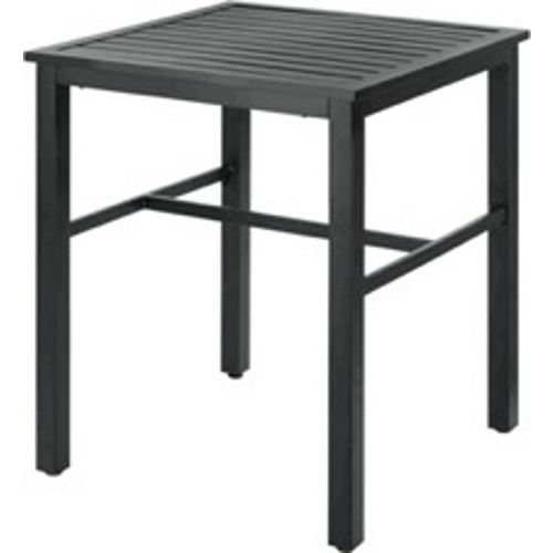 Mix & Match Square Slat Balcony Height Patio Dining Table in Graphite