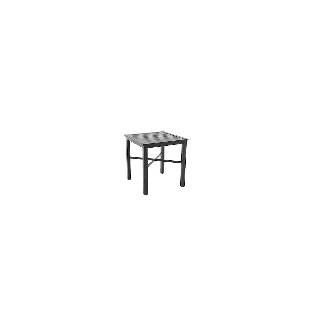 StyleWell Mix & Match Square 26-inch Patio Slat Bistro Table in Graphite