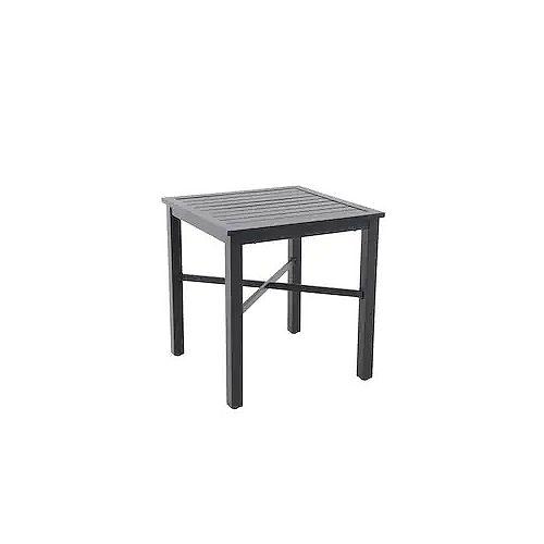 Mix & Match Square 26-inch Patio Slat Bistro Table in Graphite