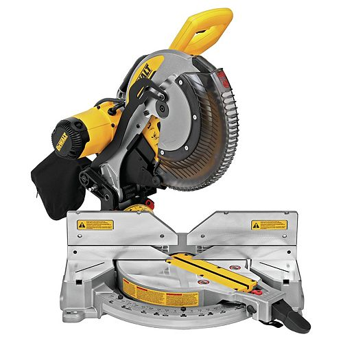 Dewalt 15 Amp 12-inch Electric Double-Bevel Compound Miter Saw With Cut line (DWS716XPS)