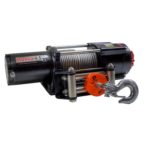 4500lb Runva ATV UTV Trailer 12V Towing Recovery Electric Winch Expert Package