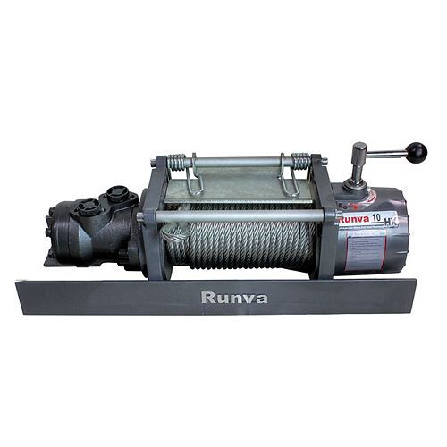 10000lb New Runva Hydraulic Towing Recovery electric Winch Kit with Steel cable