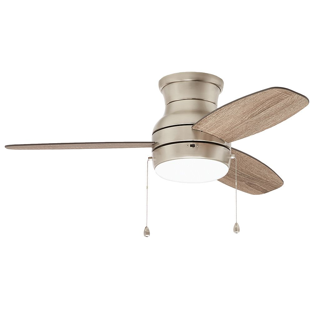 Home Decorators Collection Ashby Park 44-inch LED Brushed Nickel Ceiling Fan with Light Kit