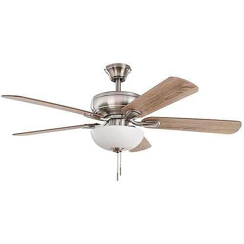 Rothley II 52-inch Brushed Nickel Ceiling Fan with LED Light