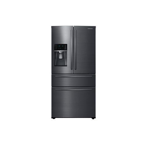 33-inch W 24.7 cu. ft. French Door Refrigerator in Black Stainless Steel, Standard Depth