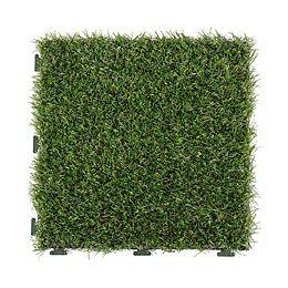 12-inch x 12-inch Artificial Turf Interlocking Tiles