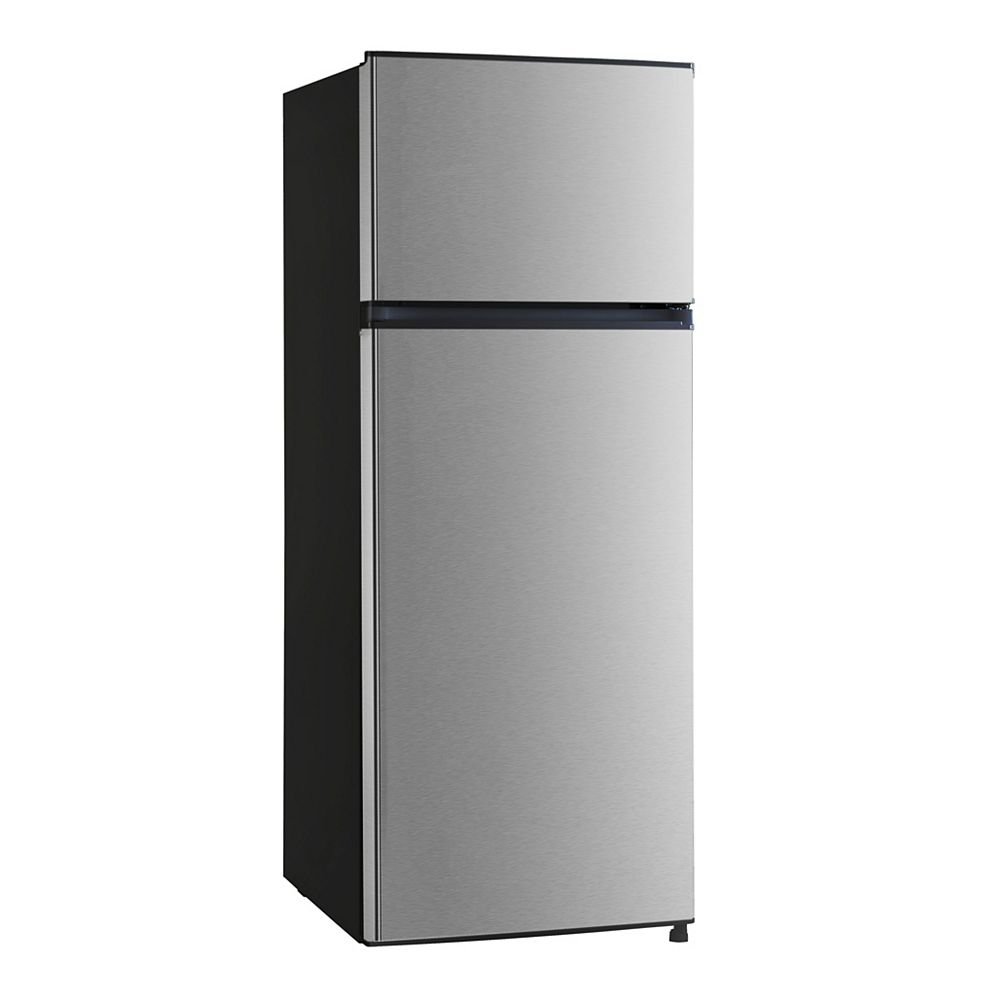 Vissani 7.1 cu. ft. Top Freezer Refrigerator, Stainless Steel Look