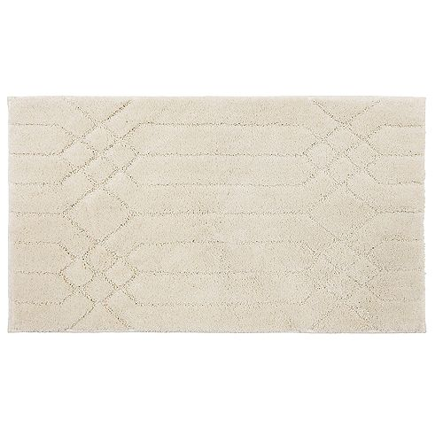 Bacall Beige 1 ft. 8-inch x 2 ft. 10-inch Bath Mat