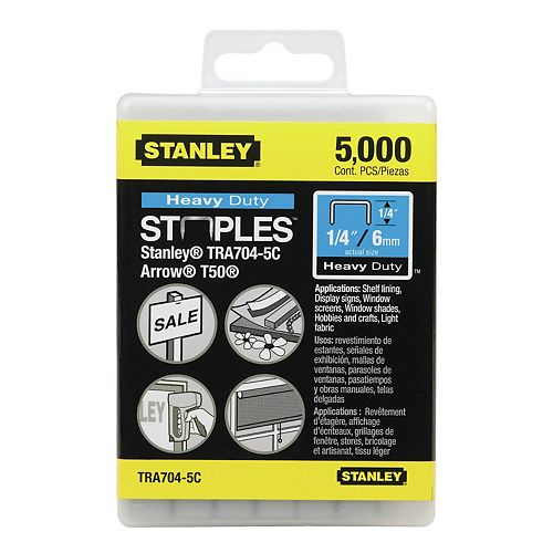 1/4-inch Heavy Duty Staples (5000 Pack)