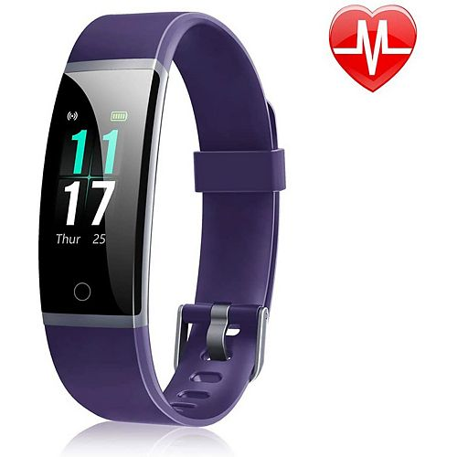 ID131 Colour Display Fitness Tracker with Heart Rate Monitor - Purple