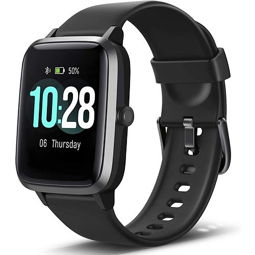 ID205L Smart Watch & Fitness Tracker with Heart Rate Monitor - Black