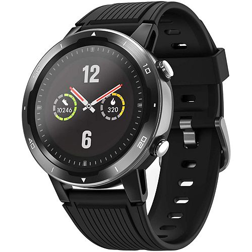 ID215G GPS Enabled Smart Watch with Heart Rate Monitor - Black