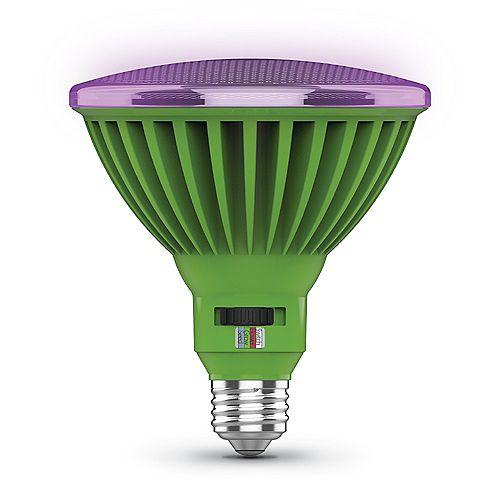 30-Watt PAR38 Selectable Spectrum Indoor Greenhouse E26 Plant Grow LED Light Bulb