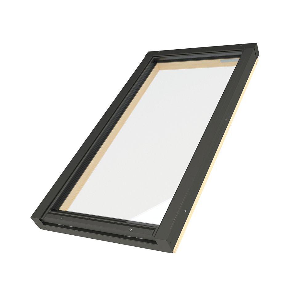Fakro Skylights Puits de lumière cadre intégré fixe - Ouverture brute 21po x 27 1/8po - FX 301 G31 trempé/laminé