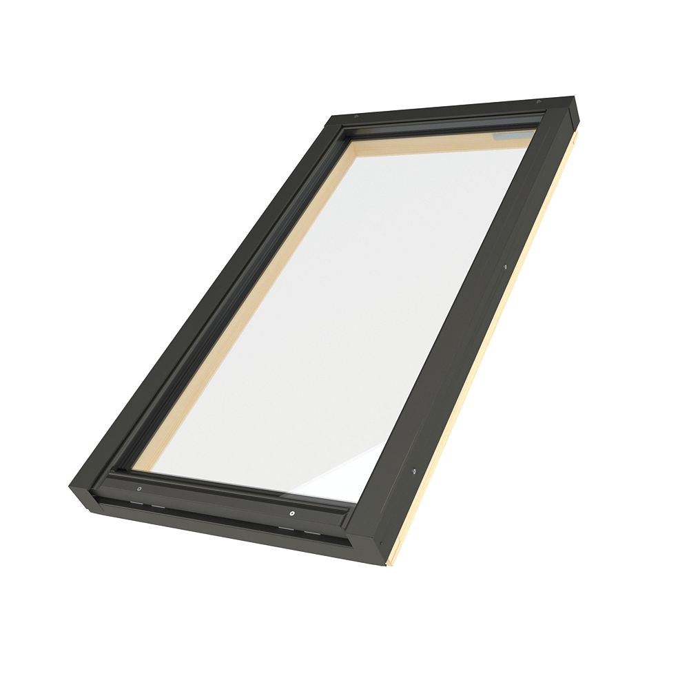 Fakro Skylights Puits de lumière cadre intégré fixe - Ouverture brute 21po x 38 1/8po - FX 304 G31 trempé/laminé