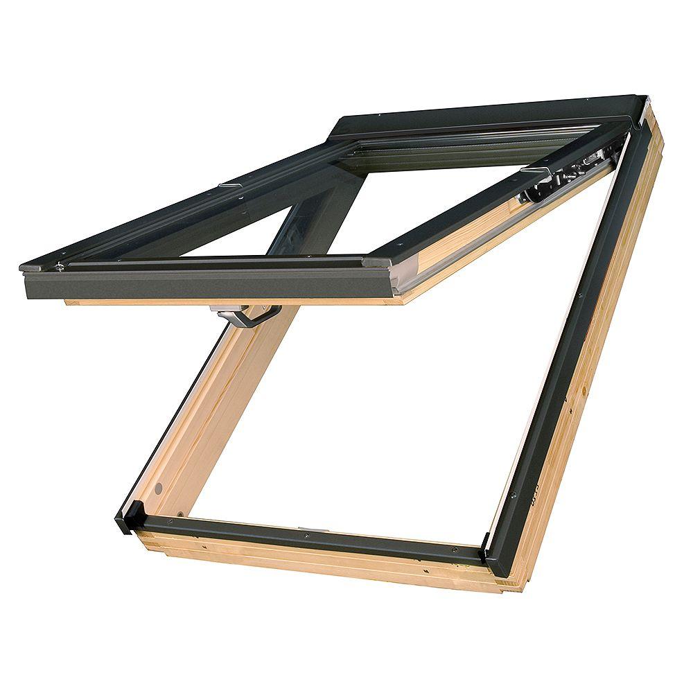 "Fakro Skylights Deck Mount Top Hung PreSelect Roof Window - Rough Opening 45 1/4"" x 46 7/8"" - FPP-10 - P2 (Temp/Lam)"