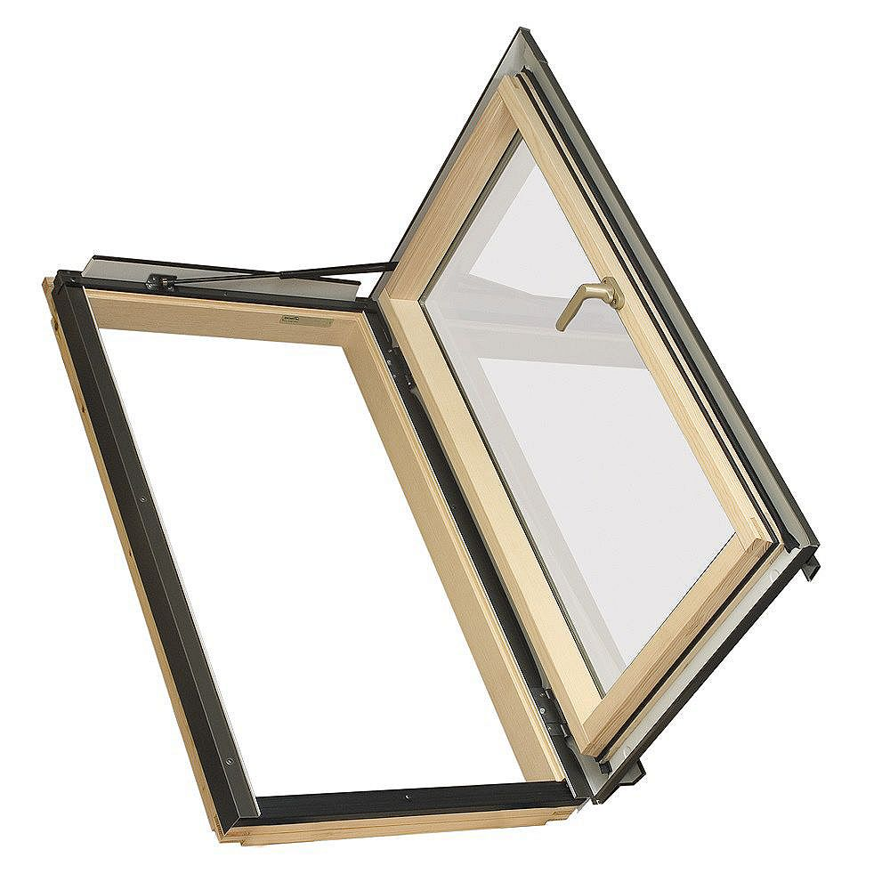 "Fakro Skylights Deck Mount Roof Egress Window - Rough Opening 38 1/2"" x 47 3/4"" - FWU-3746 - Right - G31 (Temp/Lam)"