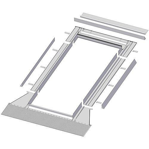 Solin à relief élevé EH pour puits de lumière cadre intégré modèles 504, 506 et 508