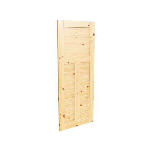 "36"" x 84"" x 1-3/8"" Knotty pine Horizontal-T interior barn door"