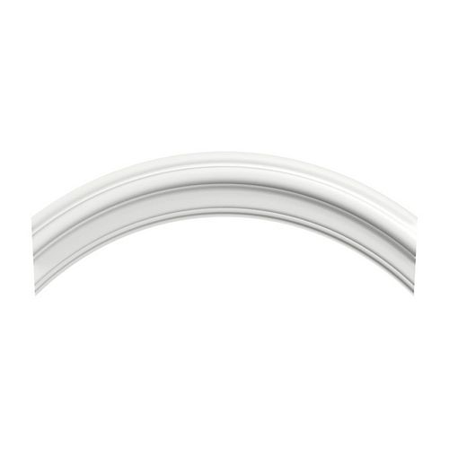 "MDF White Primed Curved Molding 1-1/8"" x 2-1/2"" x 19-1/2"""