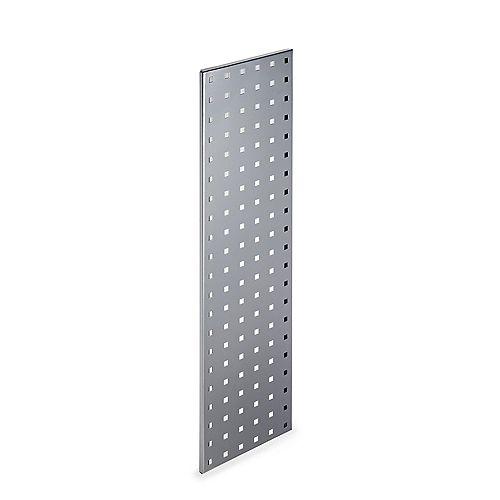(1) 31.5 In. W x 9 In. H Silver Epoxy, 18 Gauge Steel  Pegboard Strip